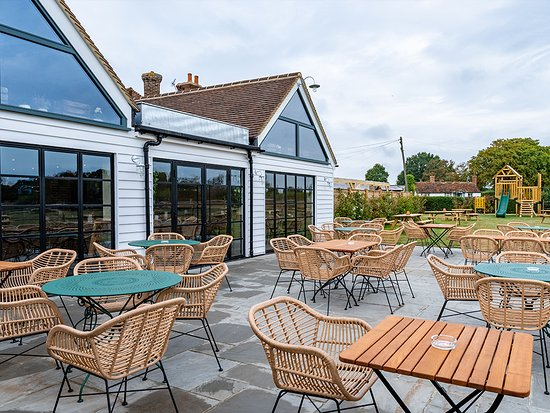 Pub garden with outside seating