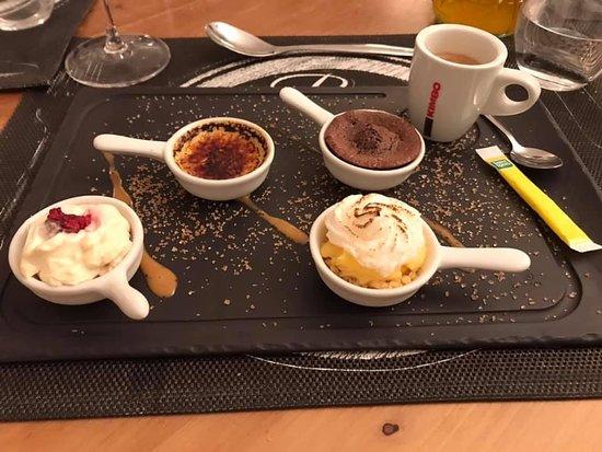 Cruis, Frankrike: Café gourmand 11€