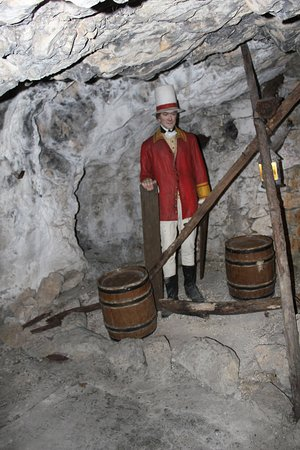 A man looking after the gunpowder in the siege tunnels