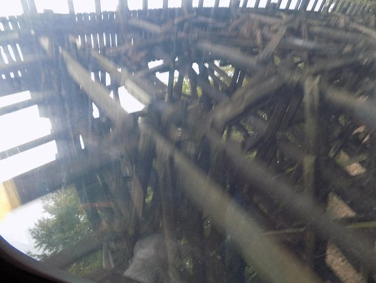 Etowah, TN: Huge wooden trestle bridge.