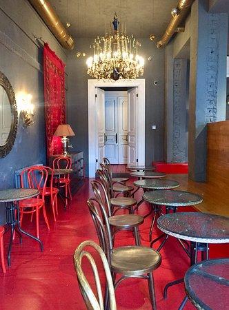 Наш обновлённый Красный зал на 36 мест.