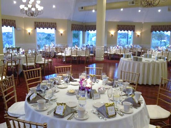 Our Banquet Room can hold up to 200 guests. We have on site ceremony and dinner packages