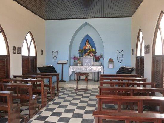 Aruba Island Sightseeing Tour: Alto Vista Chapel interior, Aruba.