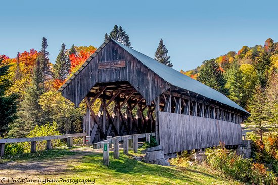 Bennett Bridge in Lincoln, Maine built-in 1901.  There is a lovely picnic area at this location.