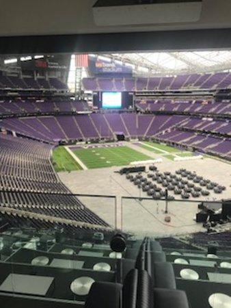 Skip the Line: U.S. Bank Stadium - Stadium Tours Ticket: In a luxury suite.