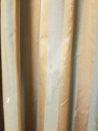 Dirty drapes.