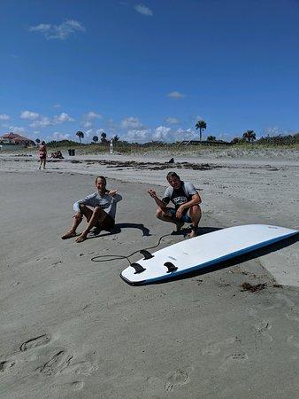 Ron and Warren taking a break between waves.