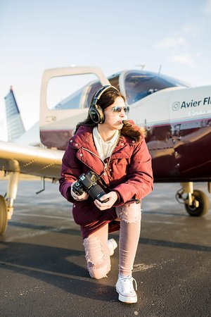 Proud pilot after her first solo!