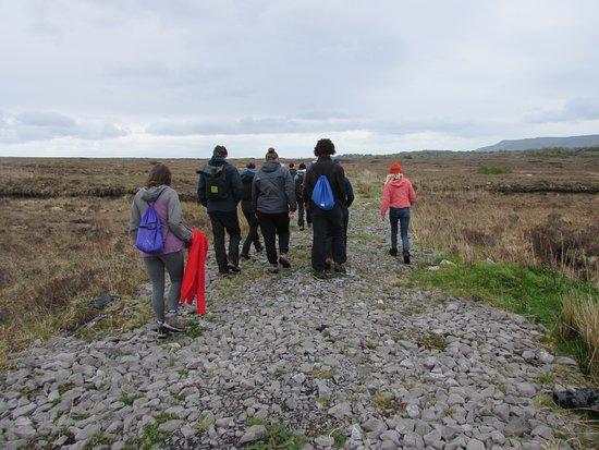 Trekking in the turf bog