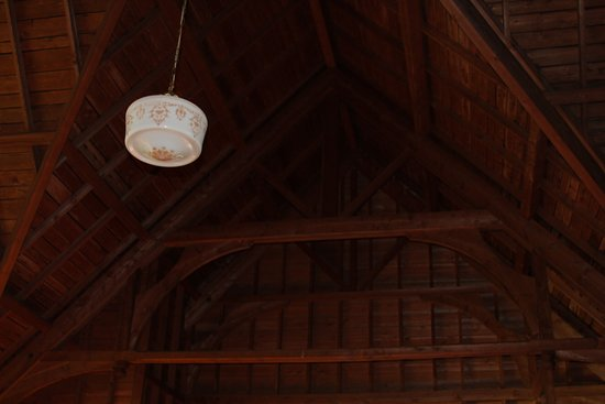 Little Cranberry Island (Islesford), ME: Ceiling of Congregational Church on Little Cranberry Island, said to be built to replicate an overturned lobster boat.