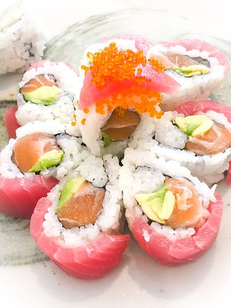 Cherry Blossom roll - too beautiful to eat! (but we did . . . )