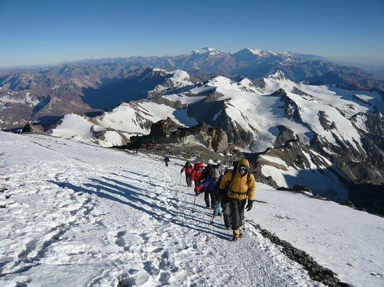The Andes Vertical Mountain Guide Team Guiding to the summit of Mt Aconcagua last February 2019, 100% summit success!