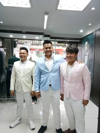 3 gentleman in a light color 2-piece suit. Thank you for your support.