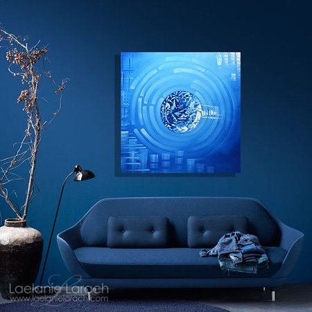 Blue Abstract Art for Sale at Laelanie Art Gallery