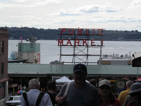 Going to the Market. Seattle waterfront.