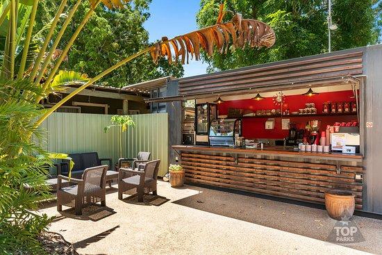 Spilled the Beans (inside Kimberleyland Caravan Park) is open from 6am serving Julius Meinl Coffee