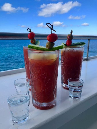 We were here 10 years ago and we came back. It is still the most amazing taverna in Mykonos. Stop by and read her story, it is incredible. #BloodyMary