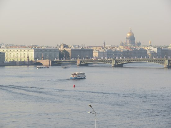 View across the Neva to the Winter Palace and Hermitage from our room on the 3rd floor