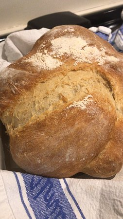 Clare's black treacle bread served warm to restaurant evening diners fresh from the oven.....