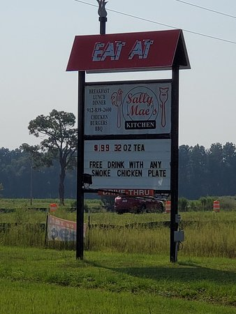 Pembroke, GA: Signage to let you know there is food around.