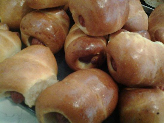 Fiesso d'Artico, Itália: Wurstel in crosta di pane.