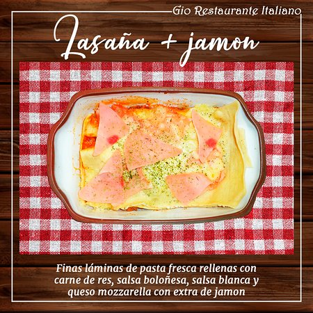 Lasaña + extra jamón