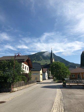 Russbach am Pass Gschutt, Austria: Outside the hotel