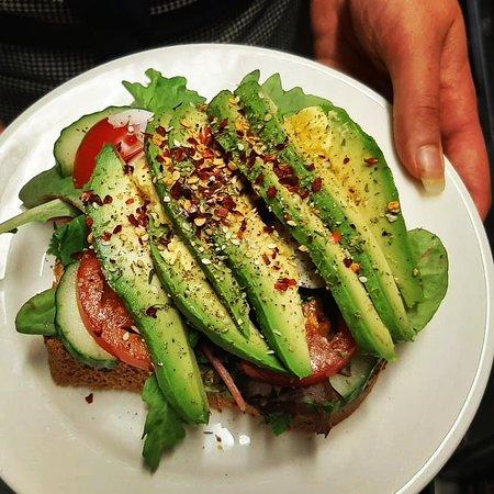 Smorgas / Sandwich with avocado and egg
