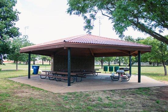 Pavilion in Arthur Sears Park in Abilene Texas