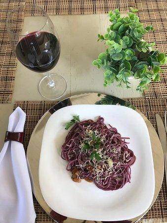 Espaguete Artesanal de vinho.
