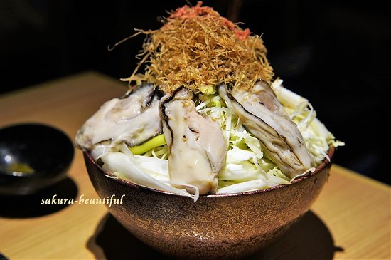 牡蠣味 ~5つの広島県産大ぶりの生牡蠣を特製合わせ出汁味噌柚子風味で~