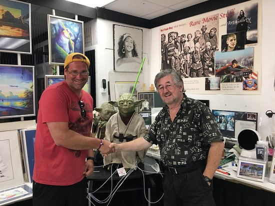 Yoda Guy Movie Exhibit Tour Ticket in St Maarten: Mr. Maley and me