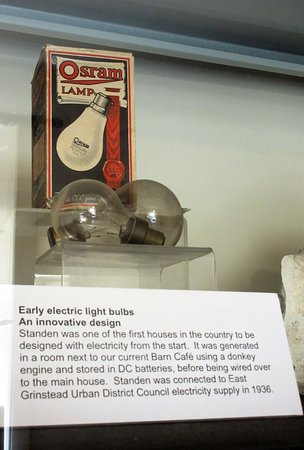 The introduction of electric light at Standen (Conservation Room)