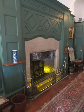 In the Dining Room - fireplace