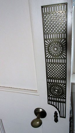 Beautiful finger plate door furniture throughout the house.