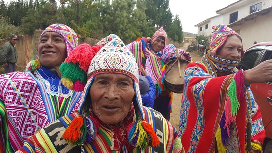 Cusco, Peru: Men with their traditional Andean clothes
