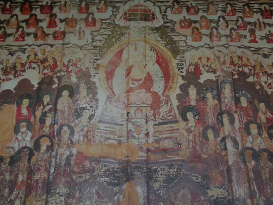 Yulong County, China: Full size reproduction of the mural inside Daboaji.
