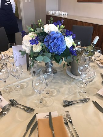 The beautiful centre pieces I had on my table at the races