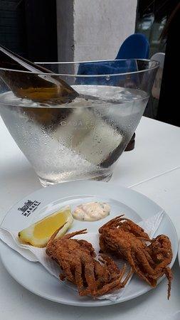 Softshell Crab and Wine