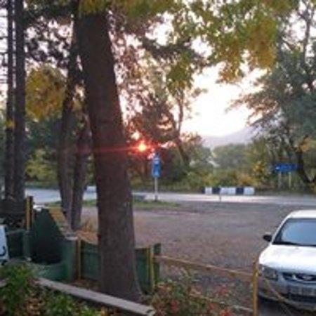 Khashuri, Georgië: sunrise at kvishkheti