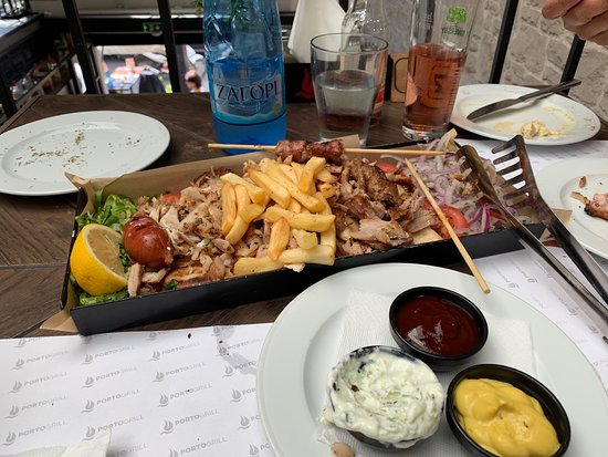 Combination meat platter for two