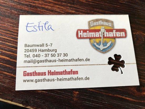 Visitenkarte Bild Von Heimathafen Hamburg Tripadvisor