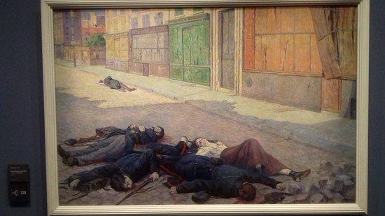 Maximilien Luce - Une rue de Paris en mai 1871