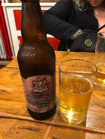 Gloucester, UK: No Rucking About - brewed especially for H&8