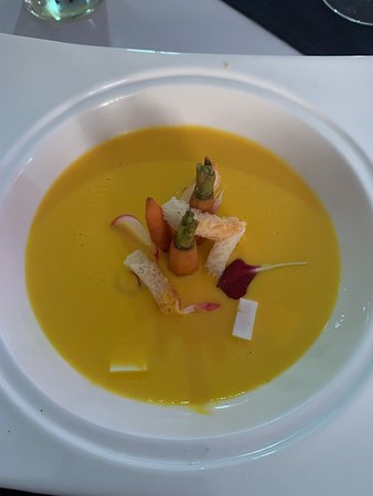 This soup was amazing and served during Chef dinner