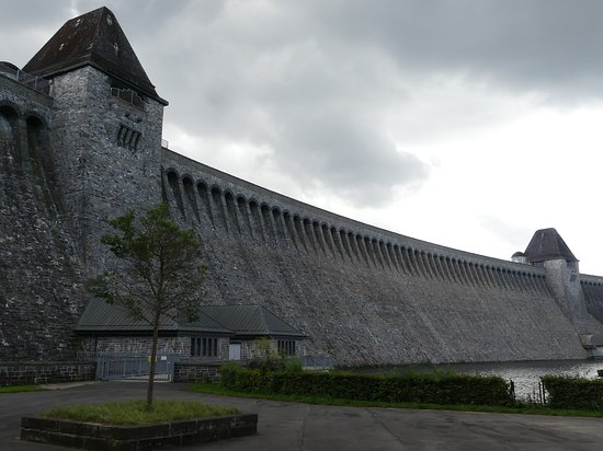 The dam itself is very impressive. On completion in 1913, it was the largest in Europe.