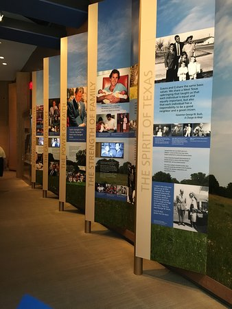 Hundreds of displays about the life of BW Bush