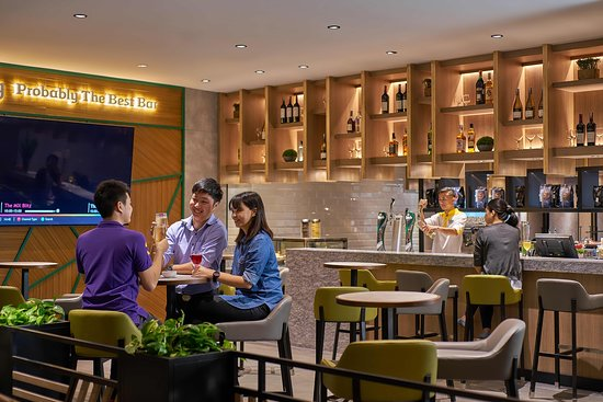 Aerotel Kuala Lumpur's BAR! It's designed for unwinding, allowing you to chill and chat, take a breather from your travels (or work!)