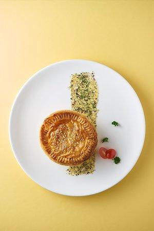 Mushroom Pie - mushroom bechamel filling in puff pastry