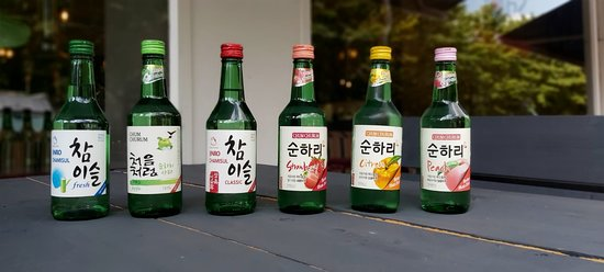 Soju Korean Ricewine In Different Flavours Picture Of Gangnam Korean Bbq Rotterdam Tripadvisor